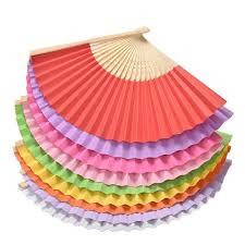 held fans for wedding 1pc style bamboo paper pocket fan folding foldable