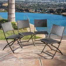 El Patio Furniture by El Paso Outdoor 3 Piece Multi Brown Folding Set By Christopher