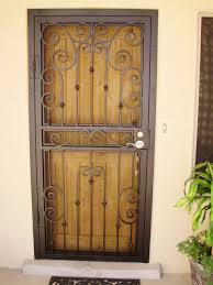 Front Door Metal Decor Front Door Grill I38 For Simple Small Home Decoration Ideas With