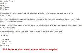 waiter job application sample cover letter job application chef