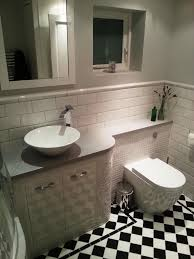 fitted bathroom ideas might work combo of mosaic tiles and metro tiles dado rail