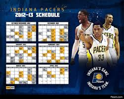 pacers 2012 13 season schedule the official site of the indiana