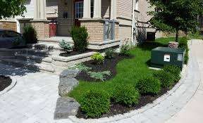 landscaping ideas for front yard with bricks bathroom design