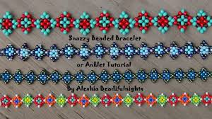 bracelet designs with beads images Snazzy beaded bracelet or anklet tutorial bead weaving tutes jpg