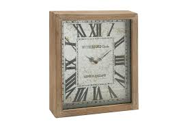 Wooden Wall Clock by Rectangle Wall Clock Mid Century Square Wall Clock Dark Wood