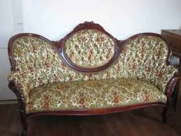 Floral Chaise Victorian Floral Sofa Chaise With Beautiful Wood Carved Trim