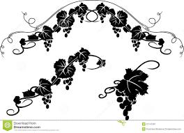 grape decorative stencil stock vector image of decor 21147281
