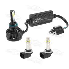 3 pcs front led headlight fog lights h4 881 for harley motorcycle