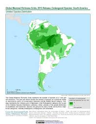 Columbia South America Map Maps Global Mammal Richness Grids 2015 Release Sedac