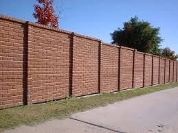 Best Fences Images On Pinterest Brick Fence Fence Ideas And - Brick wall fence designs