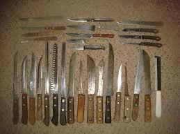 antique kitchen knives 30 vintage antique kitchen knife collection wood handles estate