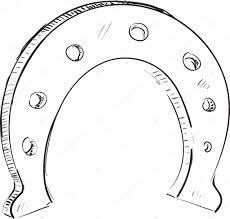 lucky horseshoe cartoon icon u2014 stock vector chuhail 9008023