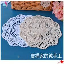 Shabby Chic Home Decor Wholesale by 2017 Wholesale Europan Fashion 30 Cm Square Natural Cotton Crochet