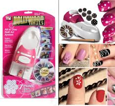 fashion hollywood nails all in one nail art system kit as seen on