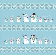 cute and funny family snowmen christmas ornament vector set icons