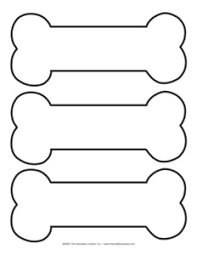 paw patrol bone templates outlines and silhouettes pinterest