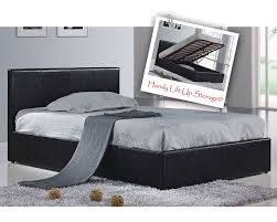3 Quarter Bed Frame Berlin Parade Black Faux Leather Three Quarter 3 4 Ottoman