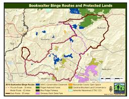 Blue Ridge Mountains Map Map Of Protected Lands Bookwalter Binge