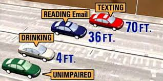 texting and driving don t especially at this time of year pics