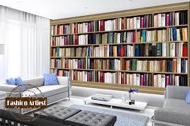 livingroom cafe custom modern 3d book wallpaper mural bookshelf book cabinet