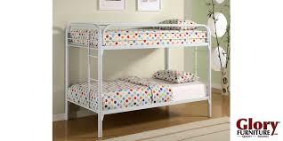 Bunk Bed White White Metal Bunk Bed