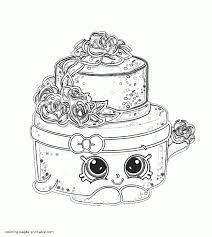 coloring pages shopkins wonda wedding cake