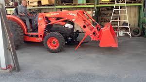 kubota l4240hst 3 with kubota la854 loader removal youtube