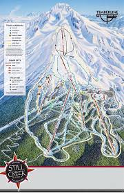 Utah Ski Resort Map by Timberline Lodge Ski Area Trail Map U2022 Piste Map U2022 Panoramic