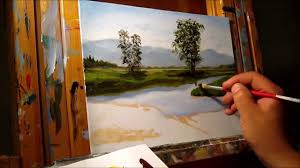 green meadows demonstration basic traditional landscape oil
