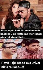 Hindi Meme Jokes - yoyo honey singh vs babu bhai funny hindi jokes jokes pics story