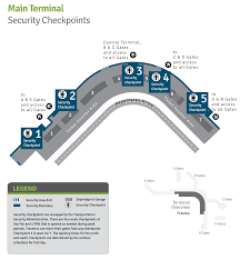 Map Of Portland Airport by Security