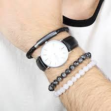 bracelet natural stones images Men 39 s personalised beaded natural stone bracelet by lisa angel jpg