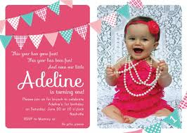 template simple first birthday invitation wordings by baby with