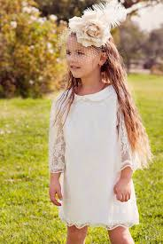 wedding flower white lace dress for girls and by bubale1