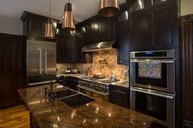 Kitchen Furniture Columbus Ohio by Downtown Dark Kitchen Cabinets