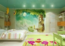 fresque murale chambre bébé design interieur fresque murale chambre enfant cabane arbre lune