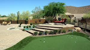 custom putting greens for your backyard using artificial turf