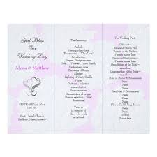 tri fold wedding programs trifold wedding programs 12 best wedding invitations ceremony
