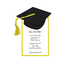 graduation cap invitations graduation cap invitation pack of 10 party