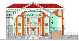 design project of residential and public buildings exteriors