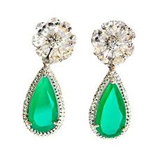 earrings online india buy floral diamond emerald drop earrings online at low prices in