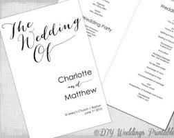 wedding ceremony program template free wedding invitation templates printable by diyweddingsprintable