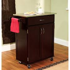 kitchen cart with stainless steel top multiple finishes walmart com