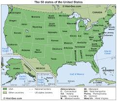 United States Map With Alaska by Map Of The 50 States Of The United States Usa