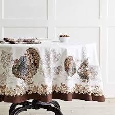 thanksgiving table linens williams sonoma