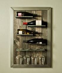 wall mounted wine rack and glass holder hollywood thing