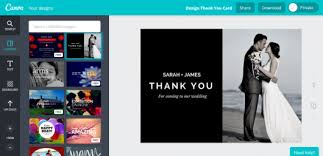 folded banner create thank you cards for business simple creation