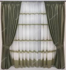 Wool Curtains Thick Curtains Of Wool Fabric And Translucent Tulle With The