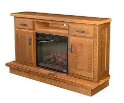 Oak Corner Fireplace by Reclaimed Barnwood Corner Entertainment Center