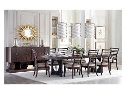 stanley furniture virage 9 piece double pedestal dining table set